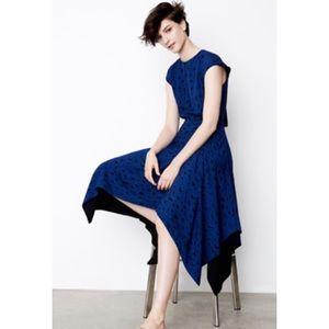 PROENZA SCHOULER Print Silk Georgette Midi dress